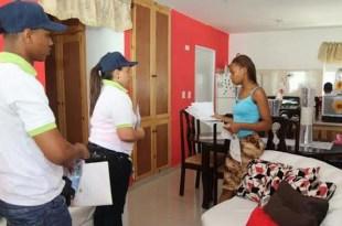 brigadistas del SeNaSa, en una de las visitas