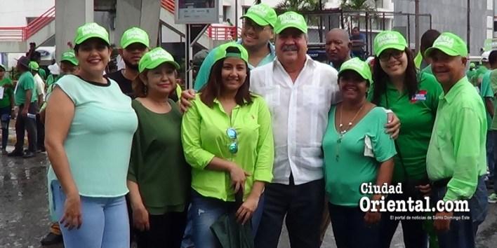 Tonty Rutinel en la Marcha Verde junto a su familia