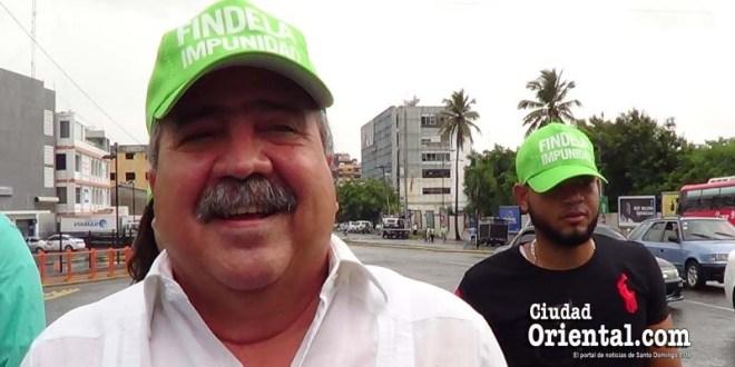 Tonty Rutinel en la Marcha Verde
