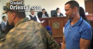 Rafael Antonio Almonte (a) Rafelito, fue apresado en la Sala de Audiencias