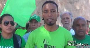Angel García, vocero del colectivo Marcha Verde