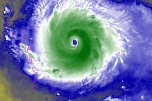 Imagen satelital de Irma aproximándose a el Caribe