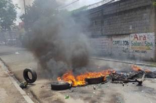 Protesta en Cancino Adentro por apagón