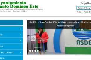 Captura de pantalla del portal del ASDE