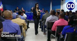 La fiscal Olga Diná Llaverías, en la conferencia