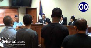 Los cuatros condenandos escuchan la sentencia