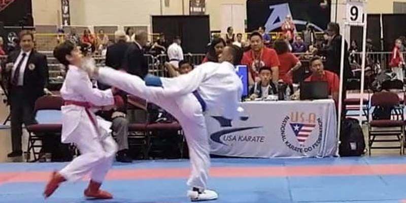 """El losminero Harlem A. Espinosa Ramos gana oro y se corona """"U.S. National Champion"""" en Karate tradicional"""