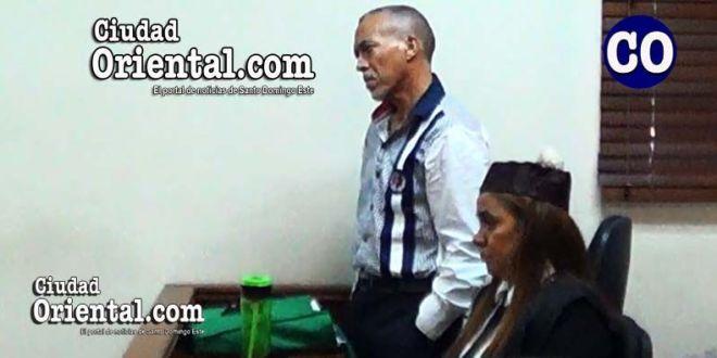 El condenado Alfredo Antonio Castillo Pichardo, en compañia de su abogada.