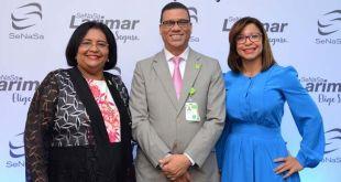 Doctora Mercedes Rodríguez Silver, Directora Ejecutiva de SeNaSa; Nicolás Peña, Gerente de Afiliación de SeNaSa; y Yocasta Santana; Subgerente de Afiliación de SeNaSa.