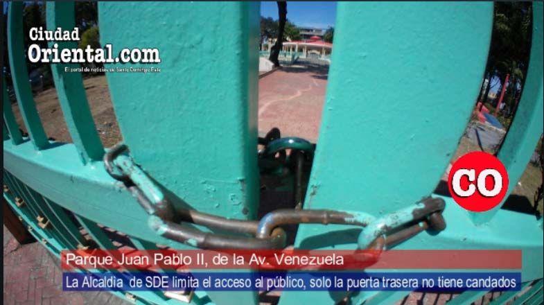 """¡Insólito! El parque de la avenida Venezuela: ¿Parque o prisión?"""""""