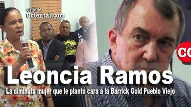 Photo of Leoncia Ramos, la diminuta campesina que plantó cara al Presidente de Barrick Gold en las entrañas de la mina de Pueblo Viejo