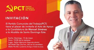 PCT invita acto de apoyo a Manuel Jiménez