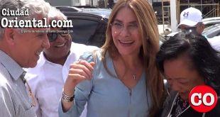 Carolina Mejía, a su llegada a Santo Domingo Este