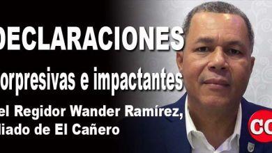 Photo of Sorpresivas declaraciones del regidor peledeísta Wander Ramírez, aliado de El Cañero en el ASDE