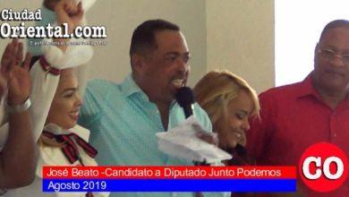 Photo of José Beato anuncia es candidato a diputado por la coalición Junto Podemos + Vídeo
