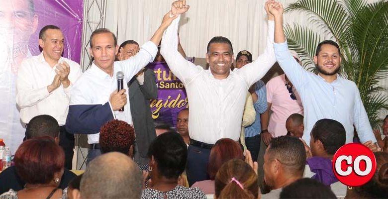 Desde la izquierda, Winston Santos, Luis Alberto Tejeda y Arturo Santos