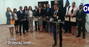 El fiscal Milcíades Guzmán Leonardo, al presentar su informe.