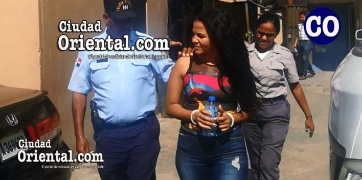Arisleyda Caraballo de la Cruz, en custodia.