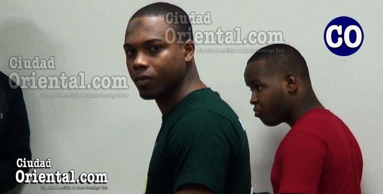 Los dos condenados al momento de la sentencia.