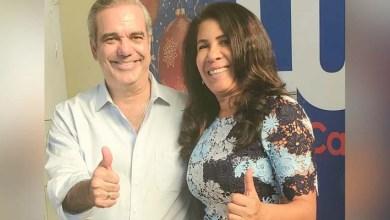 Luis Abinader y Evelyn Fernández