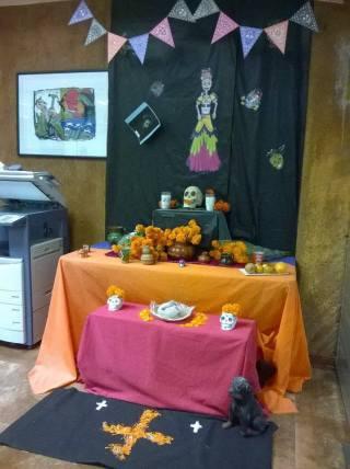 Altar en Colegio de la Forntera Norte. Foto: J. Israel Ibarra González
