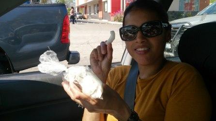 Coco en bolsa en trocitos