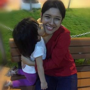 Gisella con su hija Isabella