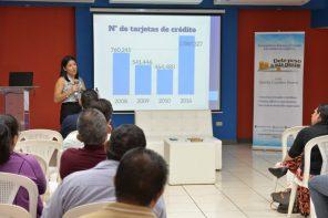 Foto: cortesía. Gisella en presentación del blog