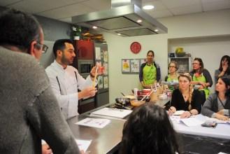 El xocolater David Pallàs va donar alguns consells pràctics als assistents