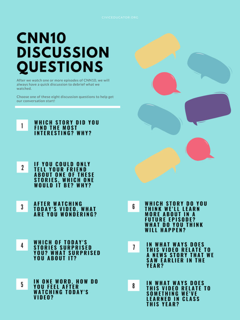 hight resolution of CNN10 Discussion Questions: 9 Ways to Get the Conversation Going