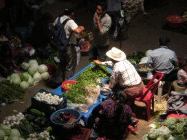 Vegetable sellers in the Chichicastenango market.