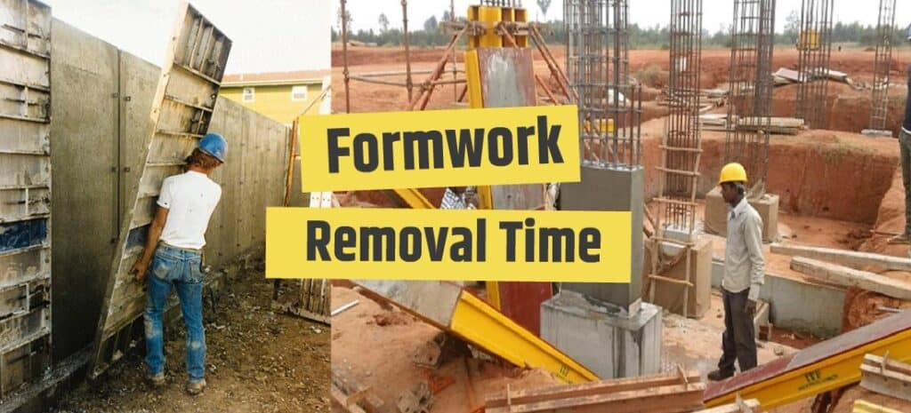 how long concrete cure to remove formwork