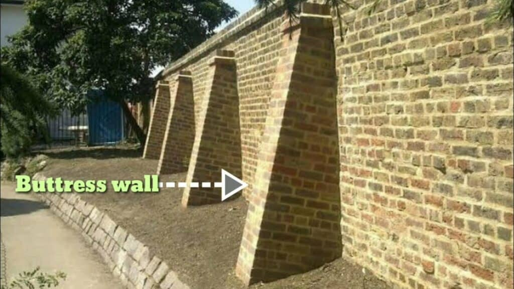 Buttress Wall - Types of Retaining Wall