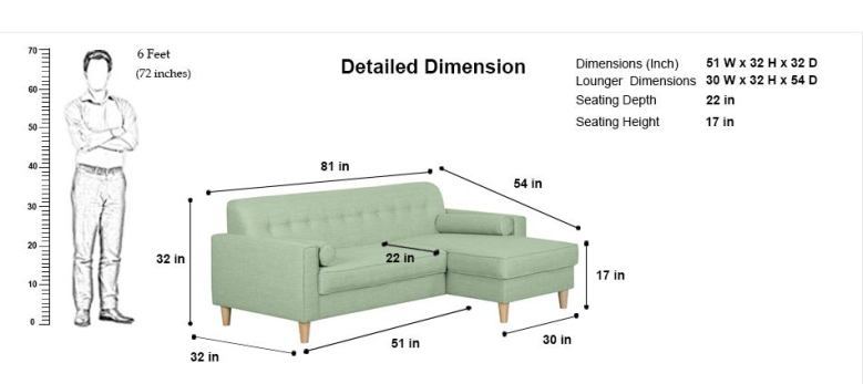 Standard Size of L Shaped Sofa -10 Types of Furniture in House and Their Standard Size