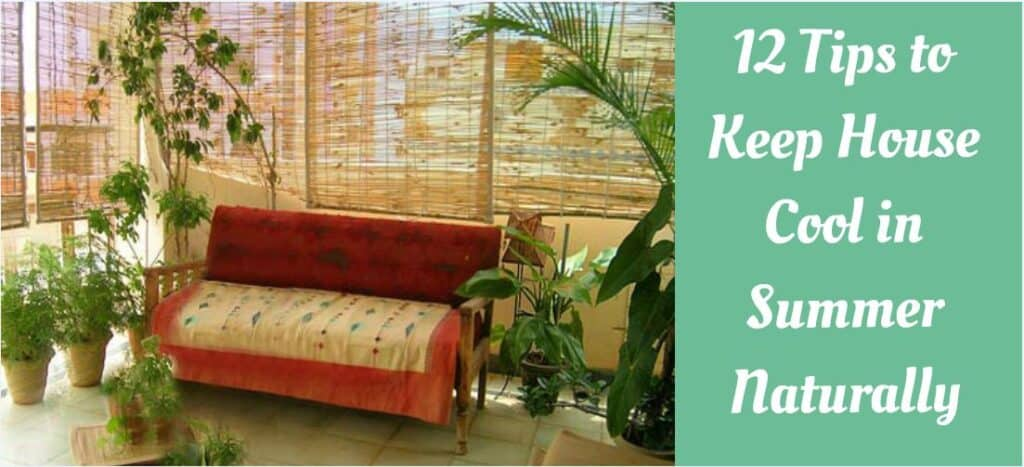 how to keep house cool in summer naturally