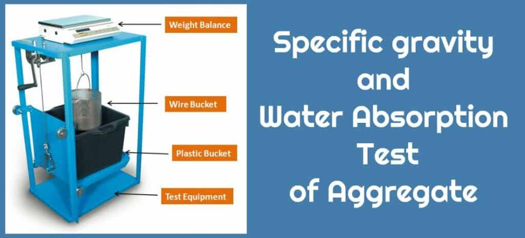 specific gravity and water absorbtion test of aggragate