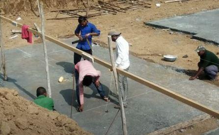Foundation Layout on Ground
