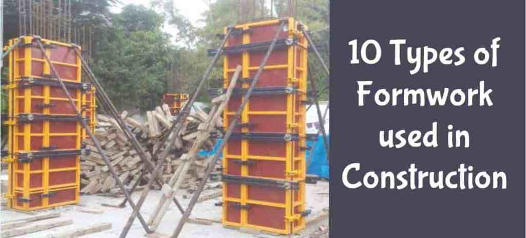 Types of formwork and shuttering used in building construction