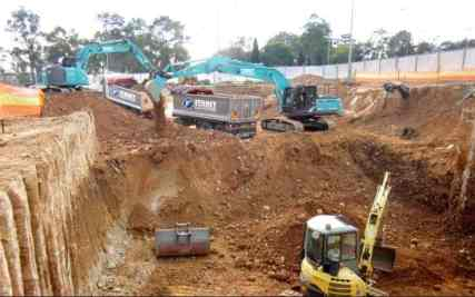 Foundation Construction Excavation