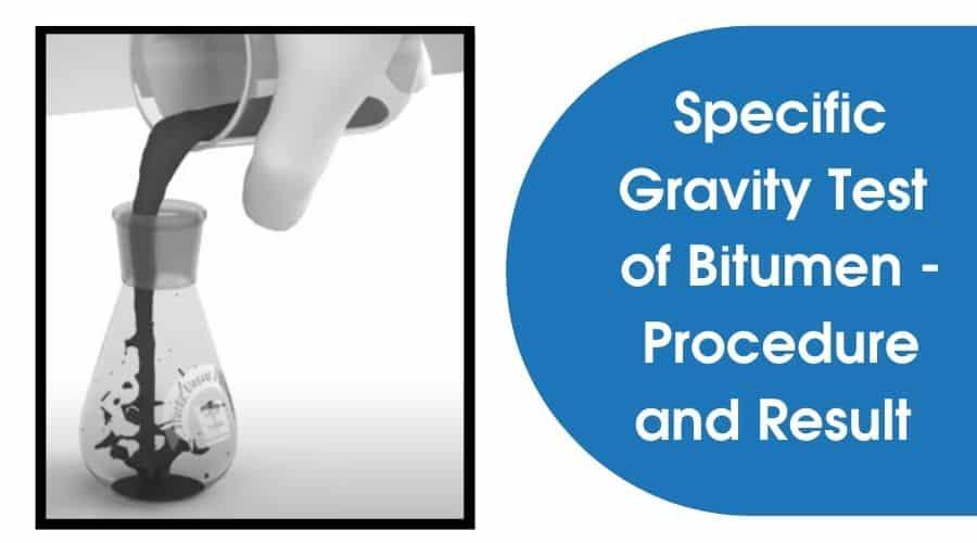 Specific Gravity Test of Bitumen
