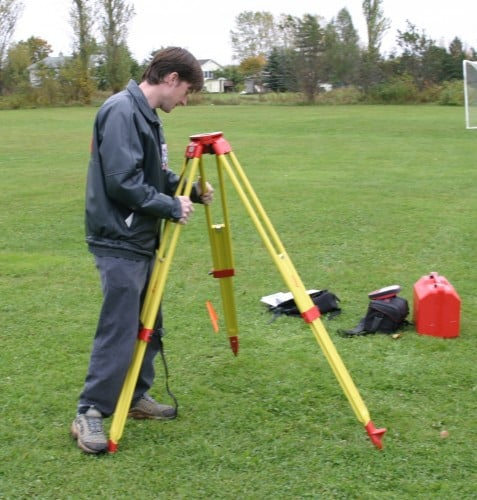 Setting up of total station