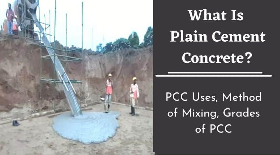 What is Pain cement Concrete