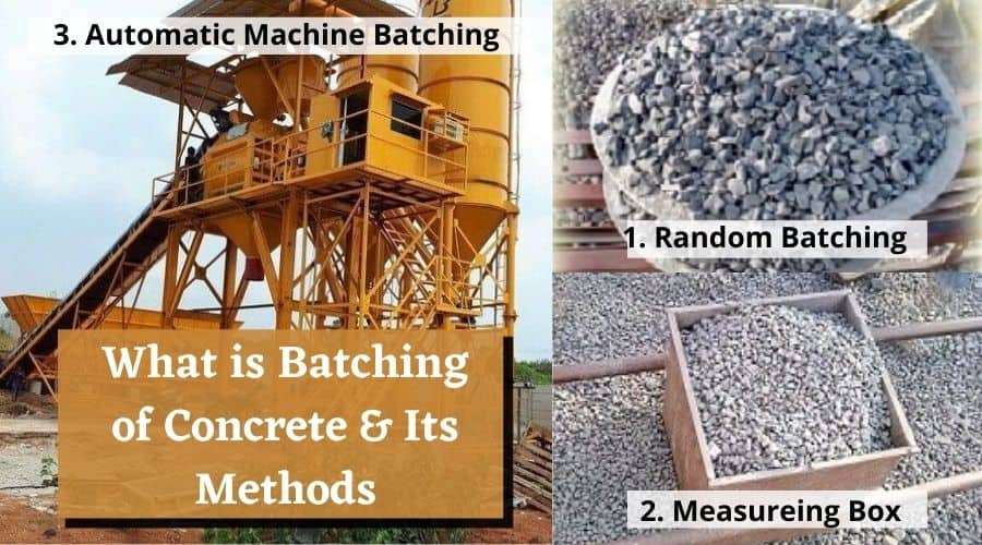 What is batching of Concrete & Types of Batching of Concrete