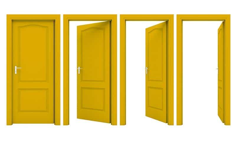 Open Door Frame
