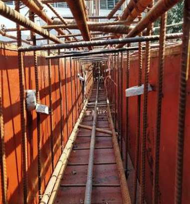 Formwork and Steel of Plinth Beam