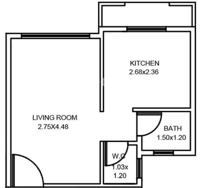 1 RK House Plan