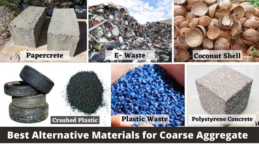 Alternative Materials to Coarse Aggregate in Concrete