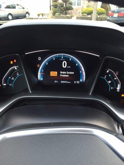2016 Honda Civic Dashboard : honda, civic, dashboard, Emission,, Brake,, Problem, 2016+, Honda, Civic, Forum, (10th, Forum,, CivicX.com
