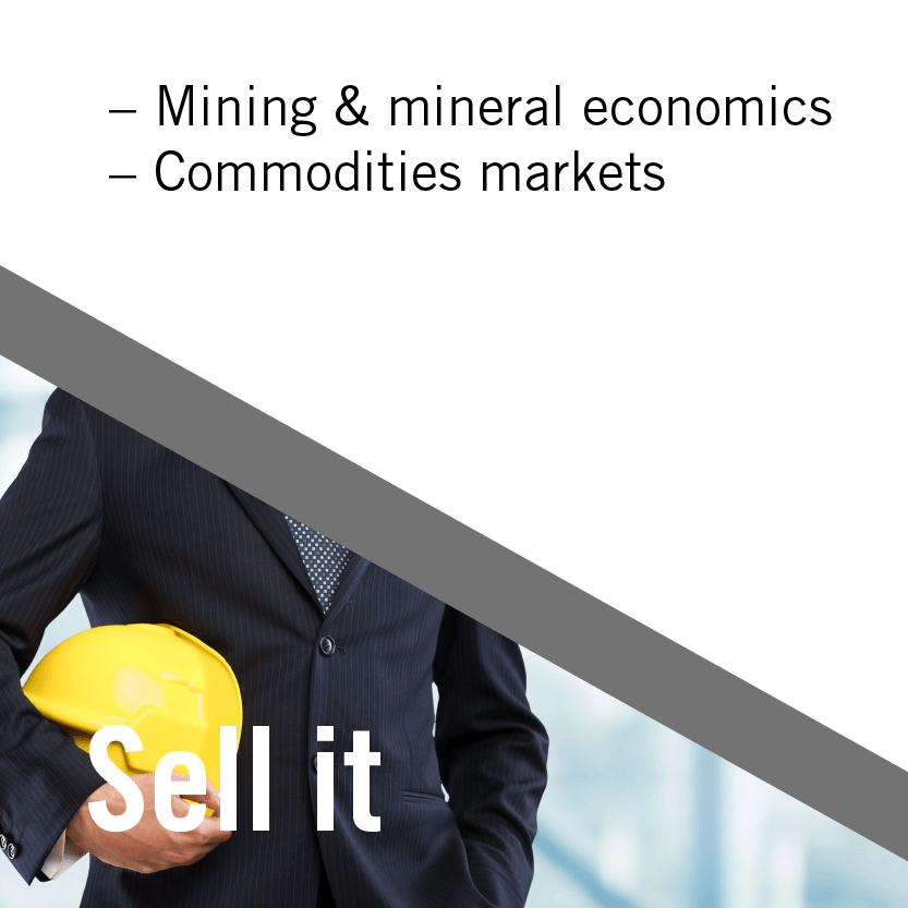 Sell it: Mining Finance Mining and mineral economics; commodities markets