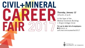 2017 CivMin Career Fair @ Foyer, Medical Sciences Building